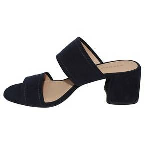 Women S Who What Wear Carolina Double Band Block Heel Slide Sandals Target