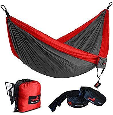 Yard. Beach Travel Camping Best Parachute Double Hammock For Backpacking Double Camping Hammock Nylon Portable Hammock