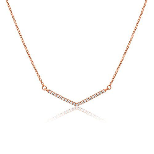 Rose Gold Over Silver Cubic Zirconia Geometric V Necklace Dynamic Jewelers http://www.amazon.com/dp/B014OMTQOU/ref=cm_sw_r_pi_dp_RTV1wb0MHD60H