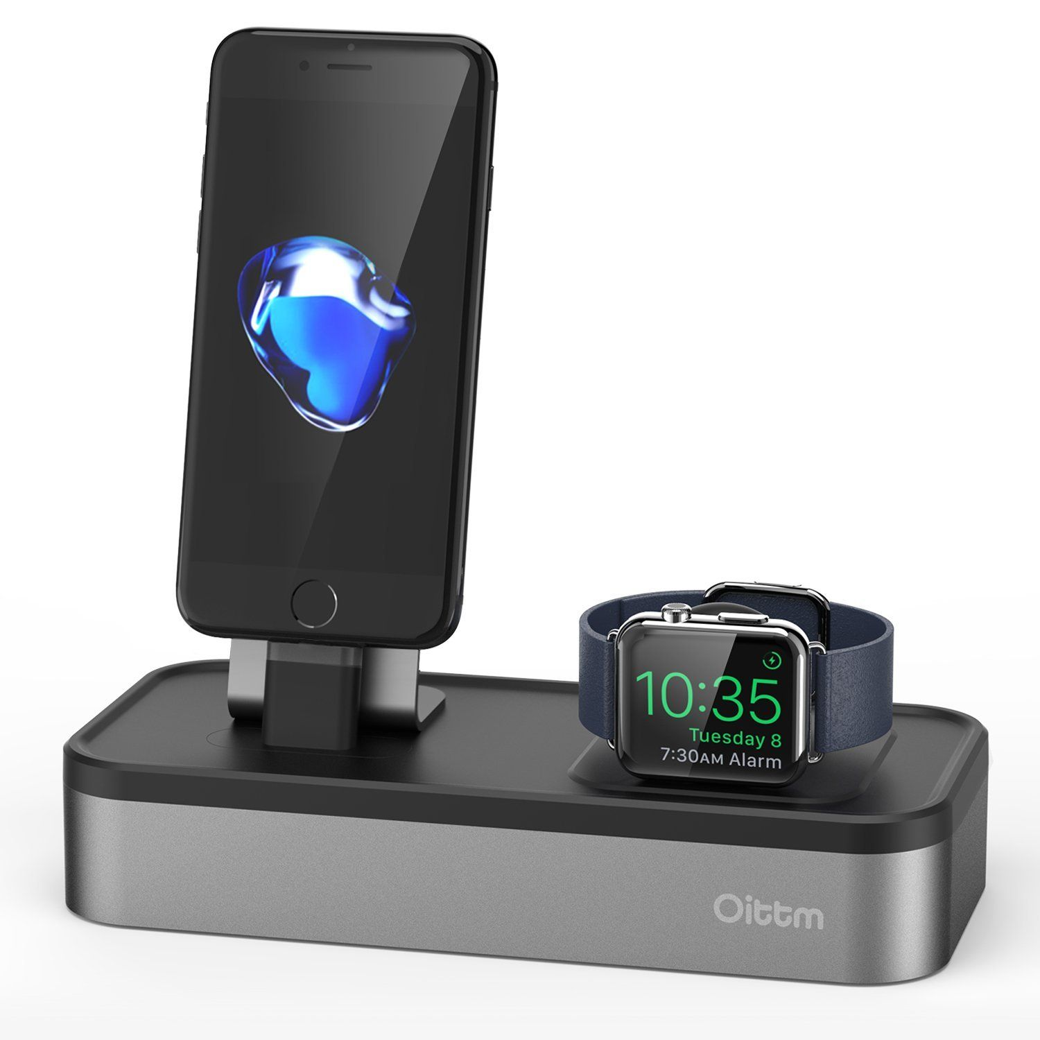 oittm 5 in 1 apple watch stand charge ladestation. Black Bedroom Furniture Sets. Home Design Ideas