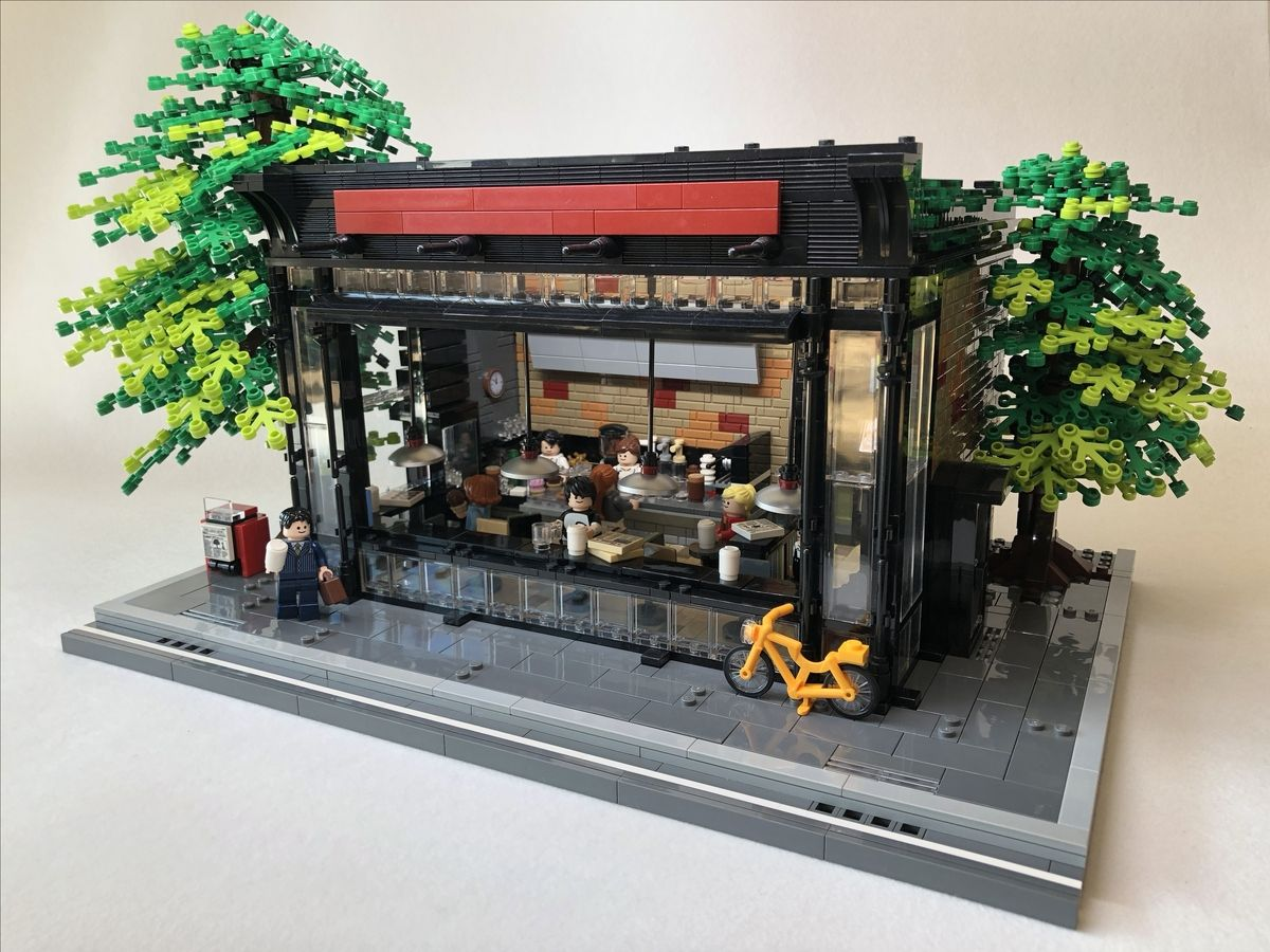 Book Cafe In Early Summer Lego Lego Books Lego Store Lego Modular