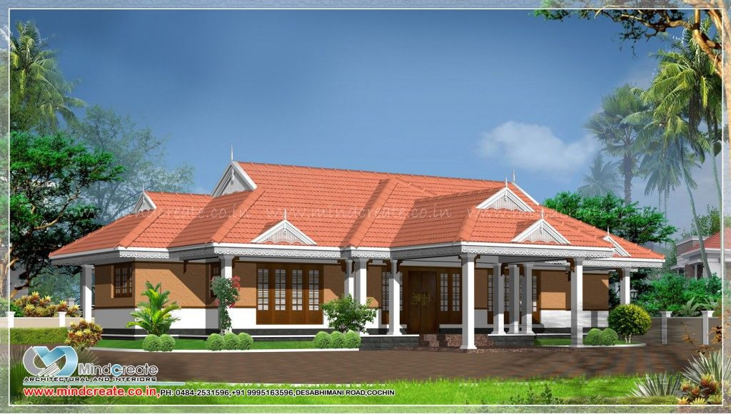 Typical Kerala Model Home 3000 Sqft Single Storey House 4bedroom Attached Car Porch Sit O House Design Pictures House Roof Design Single Storey House Plans