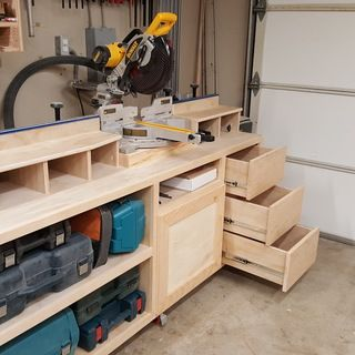 Ultimate Miter Saw Stand Downloadable Plan Woodworking