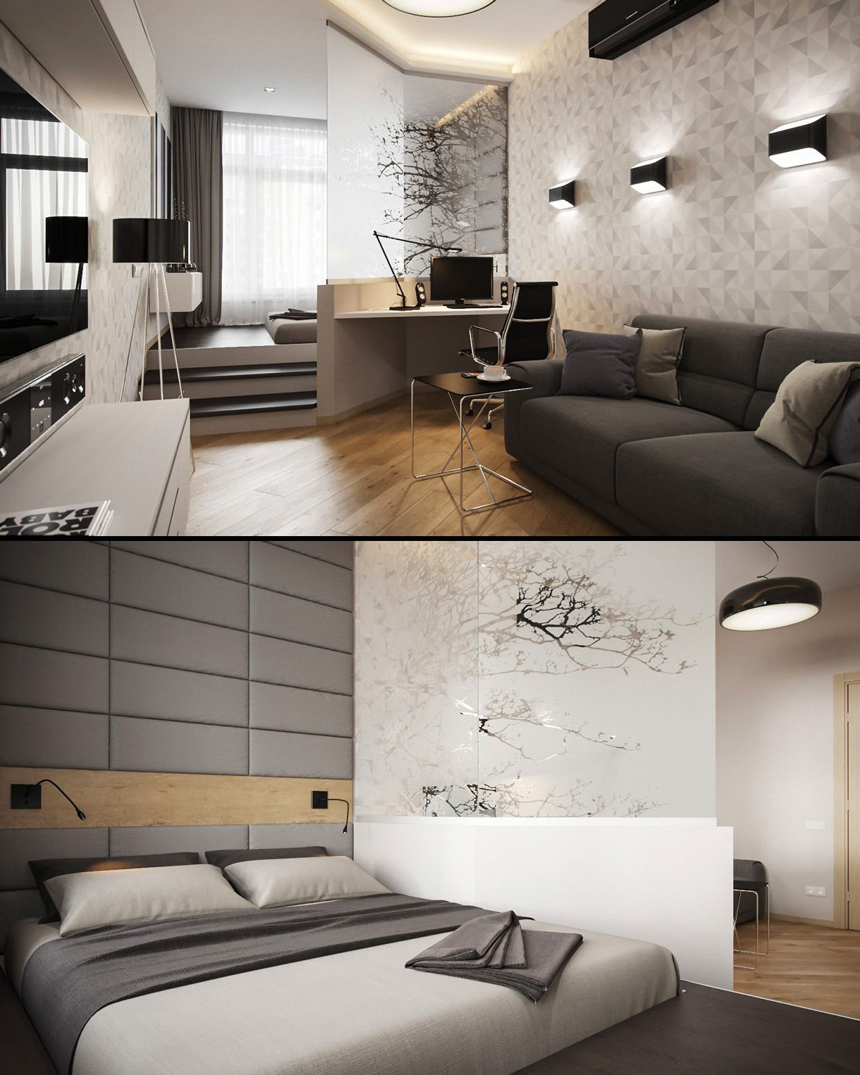 33 Smart Small Bedroom Design Ideas: Small, Smart Studios With Slick, Simple Designs