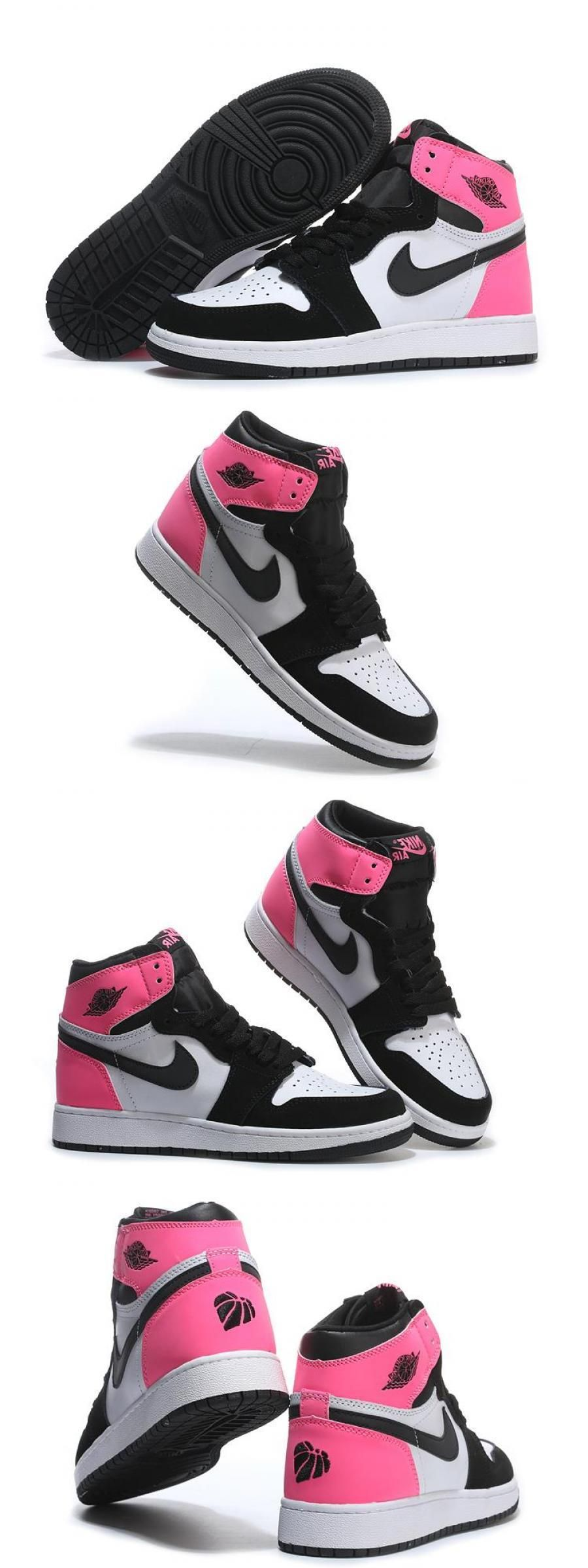 """2020 的 Air Jordan 1 Gs """"valentines Day"""" Black/hyper Pink"""