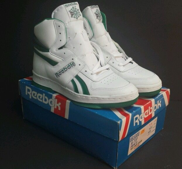 1d6f687d7c NEW Vintage Reebok BB5000 Hi-Top Deadstock Mens SZ 11 White Green ...