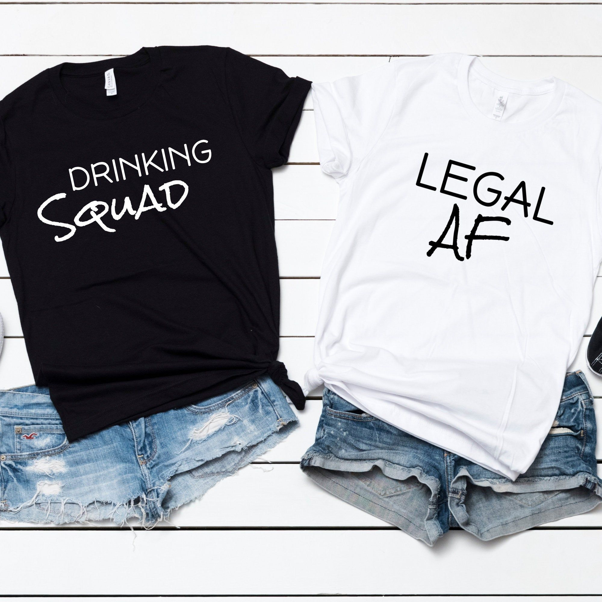 Legal AF, 21st Birthday Shirt, Finally Legal, 21 and Legal, 21 years old, 21st Birthday, Birthday Squad Shirt, Unisex T-Shirt
