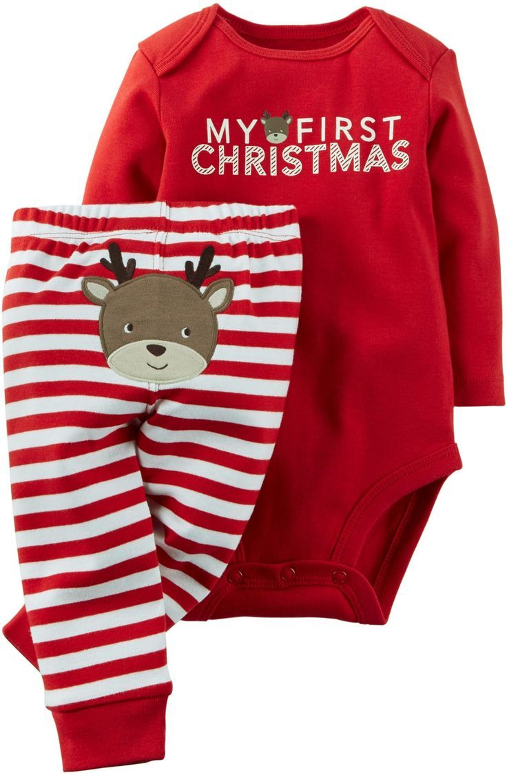 19fc791a9 Carter's Baby Boys' Christmas 2-Piece Bodysuit & Pant Set (3 Months