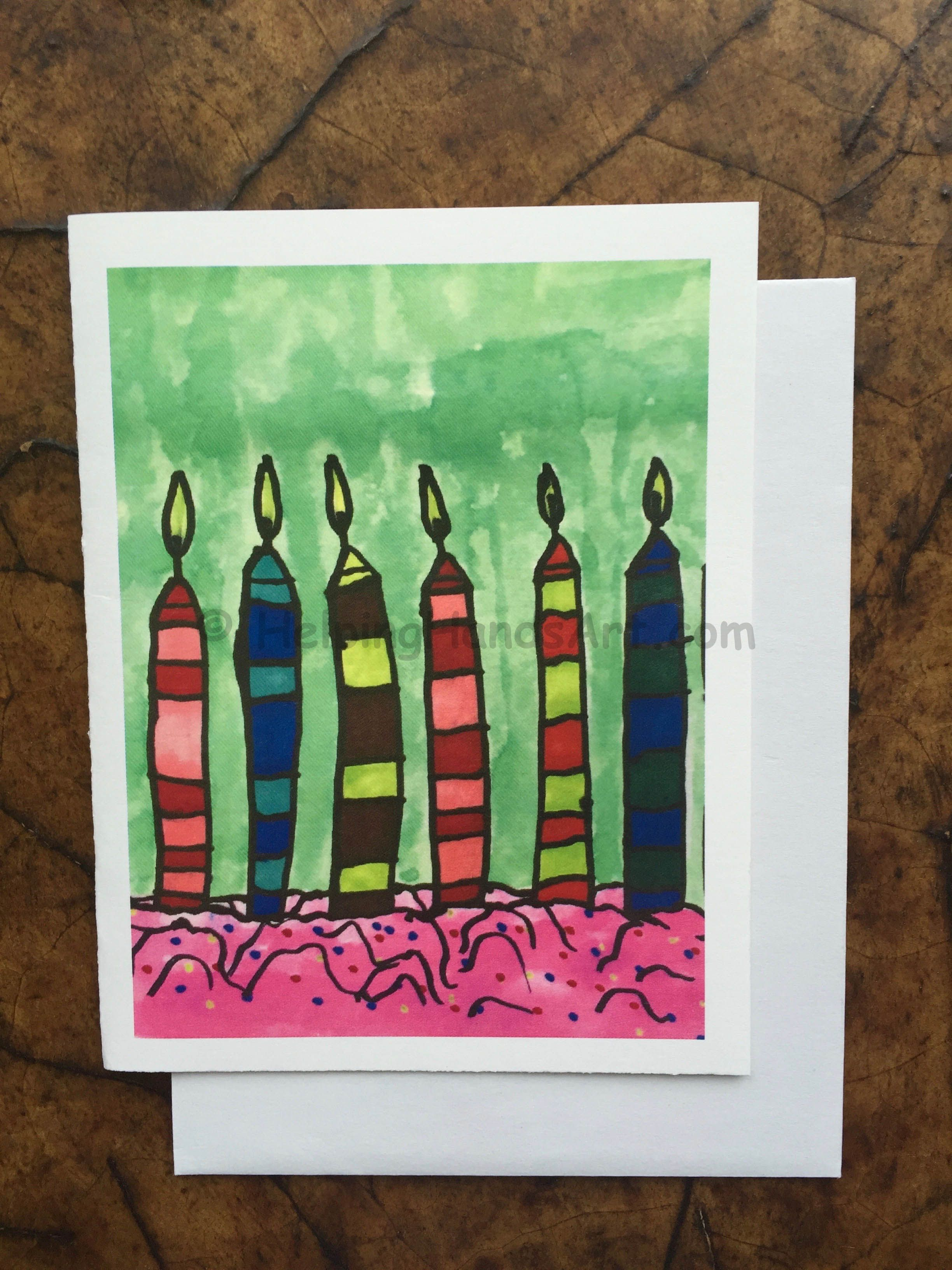 Birthday Candles Birthday Card