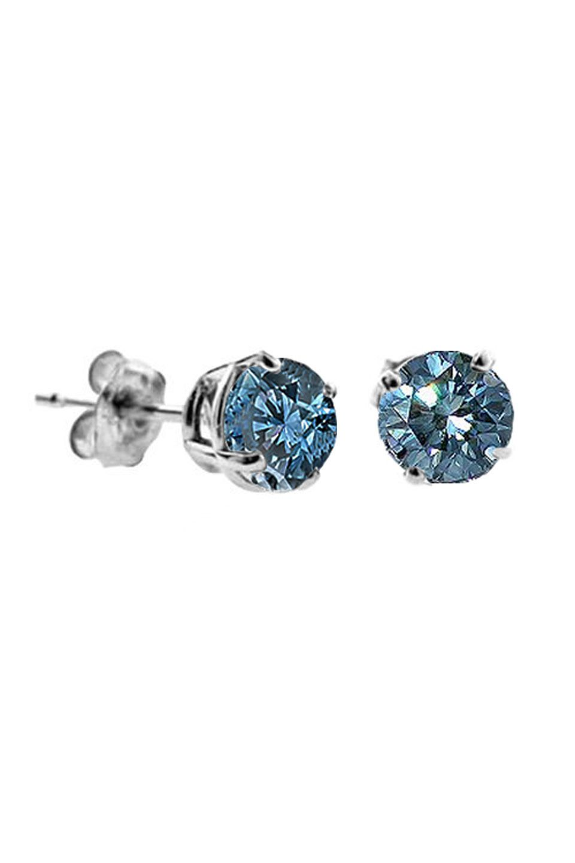 Fine Jewelry 1/2 CT. T.W. Color-Enhanced Blue Diamond Stud Earrings ywyARNEk