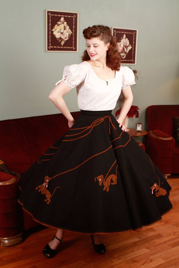 Vintage 1950s Skirt Authentic Juli Lynne Charlot Black By FabGabs 55000 This Is Why