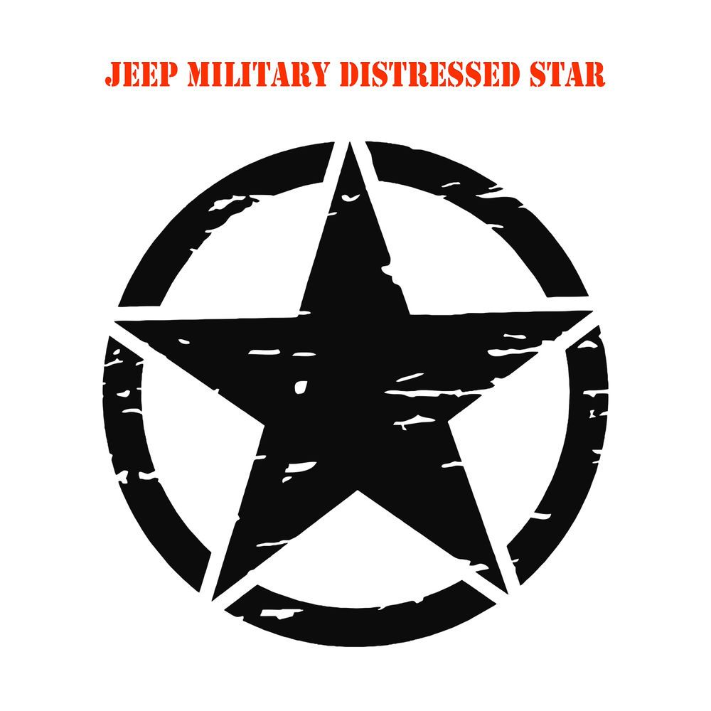Army Star Distressed Military Hood Decal Jeep Wrangler
