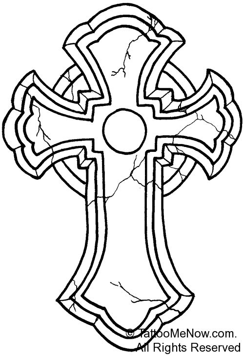 Cross Outline Tattoo Designs Your Free Tattoo Designs Stencils