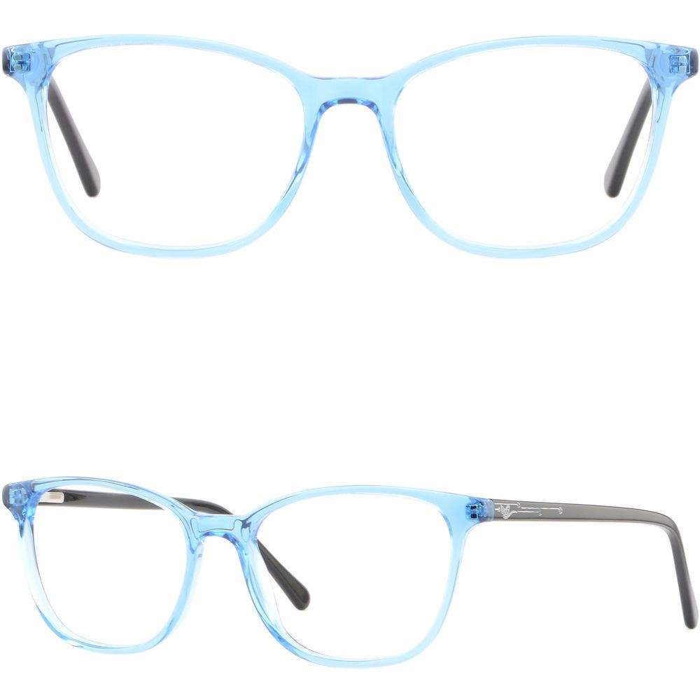 c75fdccf4f Rectangle Women s Acetate Plastic Frames Spring Hinges Prescription Glasses  Blue