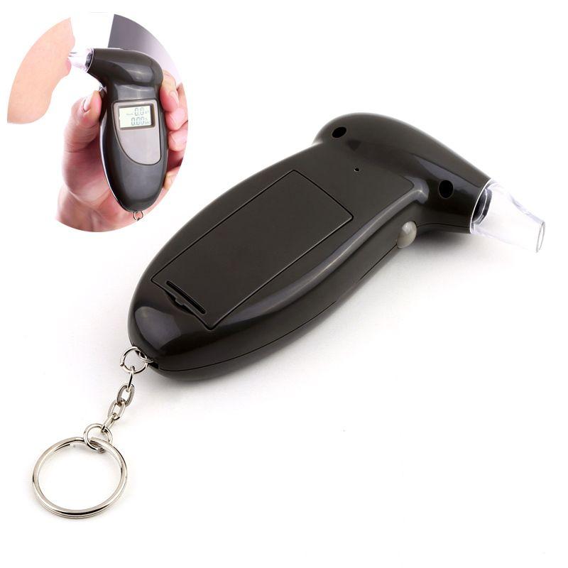 LCD Digital Alcohol Breath Tester Breathalyzer Analyzer Detector Test Keychai