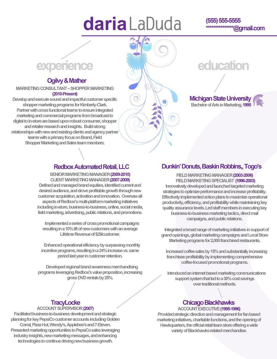 Resume Marketing Front By Rkaponm Deviantart Com On Deviantart Resume Marketing Shopper Marketing