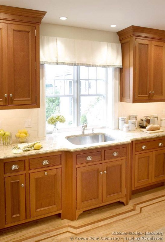 kitchen idea of the day traditional light wood kitchens by crown point cabinetry love on kitchen cabinets light wood id=84354