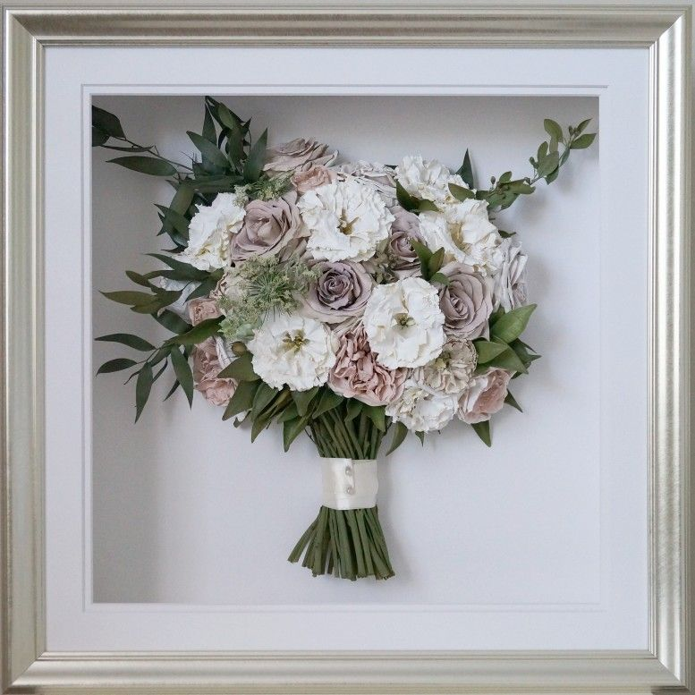 Preserved/dried wedding bouquet framed (With images
