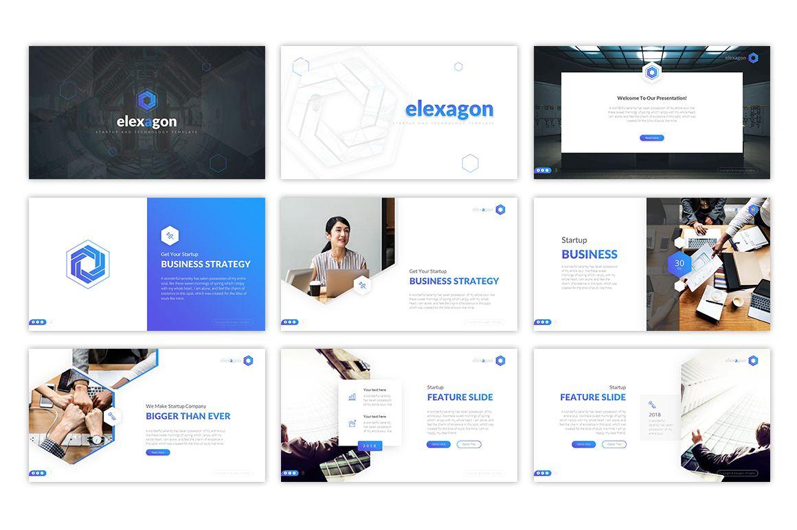 Elexagon Start Up PowerPoint Template 76949 Templates