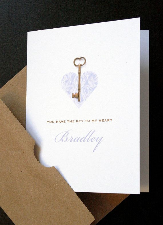 Add A Name Key To My Heart Romantic Personalized Love Card Valentine Anniversary Proposal Love Key To My Heart Valentines Cards Love Cards