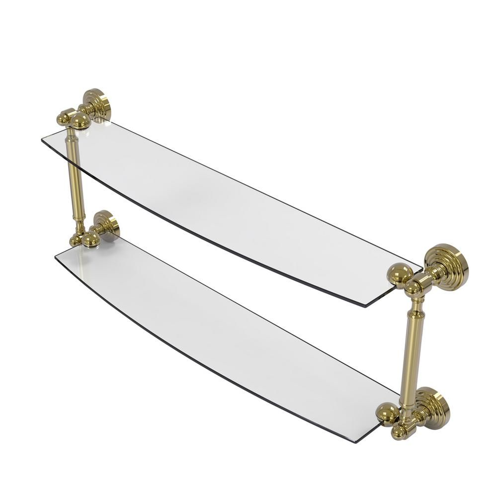 Allied Brass Waverly Place Collection 24 in. 2-Tiered Glass Shelf in
