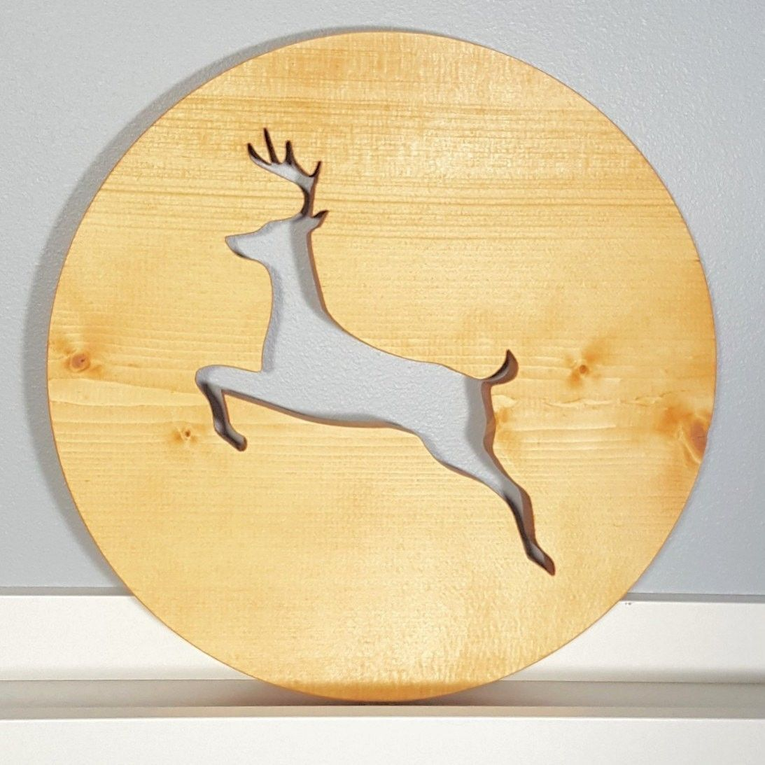 Holiday Deer Wall Art. Check the shop for more. #holidaydecor ...