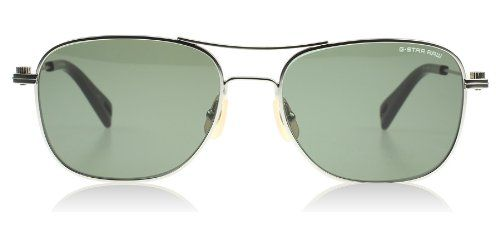 G-Star Raw GS101S Aviator Sunglasses, Silver Semi Matte, 56 mm. Stopper hinge to prevent end of temple from scratching lens. Made of monel, a lightweight, durable and corrosion resistant metal comprised mainly of nickel and copper. Cr-39 lens that is lightweight, scratch-resistant and ultraviolet protective. Case Included.