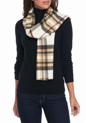 3794b58e4ca V Fraas Women s Exploded Plaid Scarf - Ivory - One Size Écharpe À Carreaux