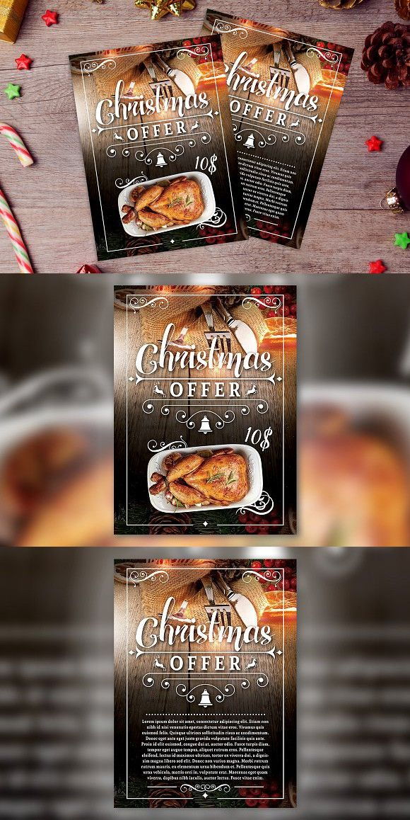 Christmas Offer Flyer Template Template And Fonts