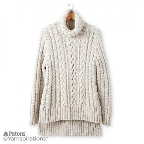 Ravelry Split Hem Cable Knit Pullover Pattern By Gayle Bunn
