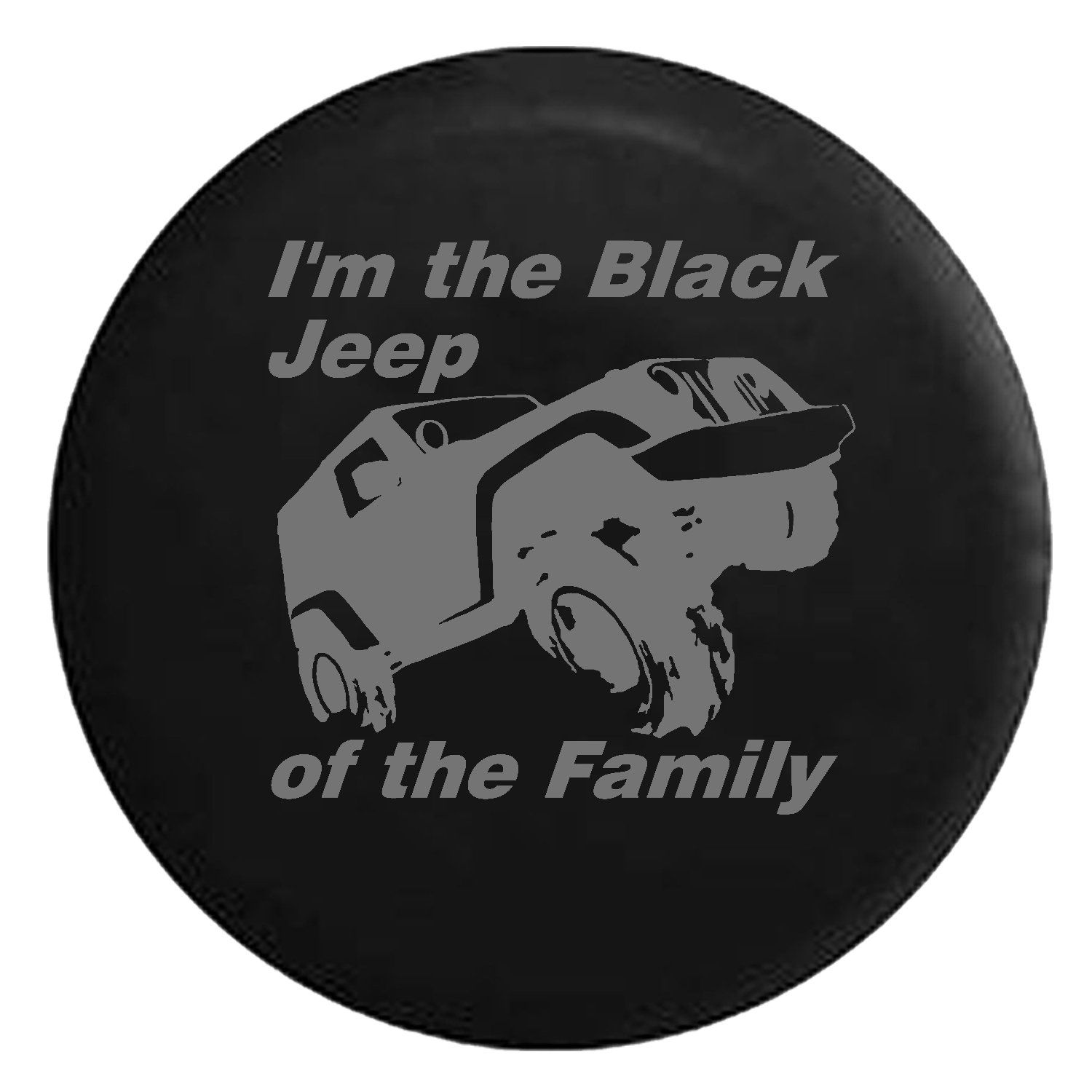 Black Jeep Of The Family Off Road Spare Jeep Wrangler Camper Suv