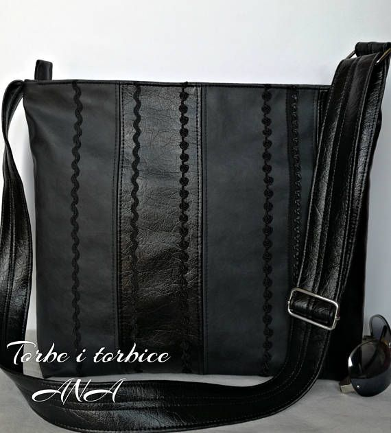cdb0bb009be7 Faux Leather Bag Cross Body Bag Black Vegan Bag Black Bag