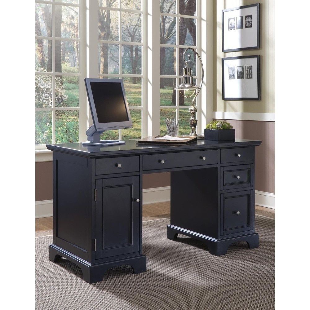 black desks for home office. home styles bedford pedestal computer desk give your office an executive makeover with the this black desks for
