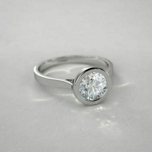 2ct Near White Emerald Cut Moissanite Man Engagement Ring 925 Sterling Silver Solitaire Ring,Bezel Ring,Wedding Ring Man/'s Ring Gold Ring