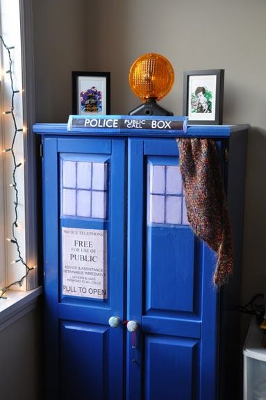 Tardis cupboard... Screw that. I'd make it a wardrobe that leads into a huge secret room...It's gotta be bigger on the inside.