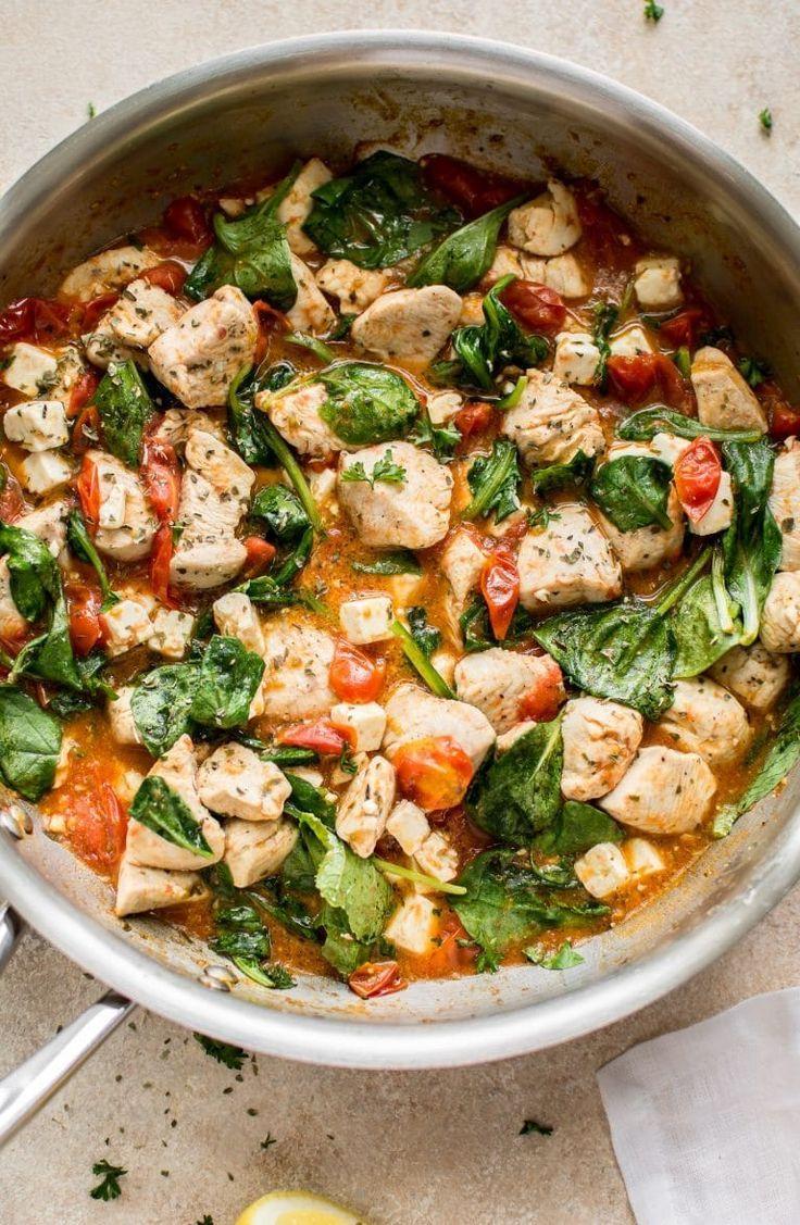 Chicken Feta Spinach Pasta Recipe Pasta with feta