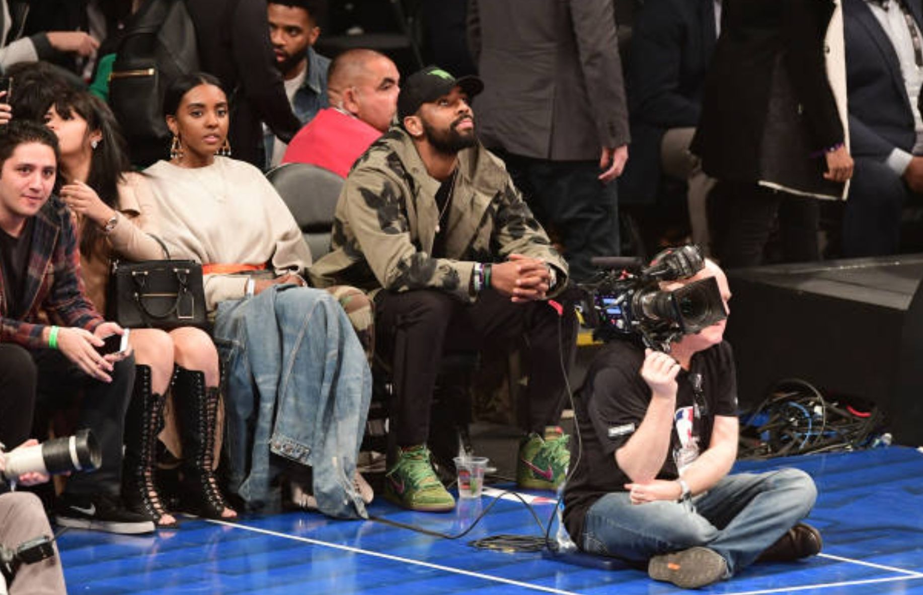 They slick look like they could pass as twins. #KyrieIrving and his sister  at the #AllStar2018 Rising Stars Game   Kyrie irving, Kyrie, Allen iverson