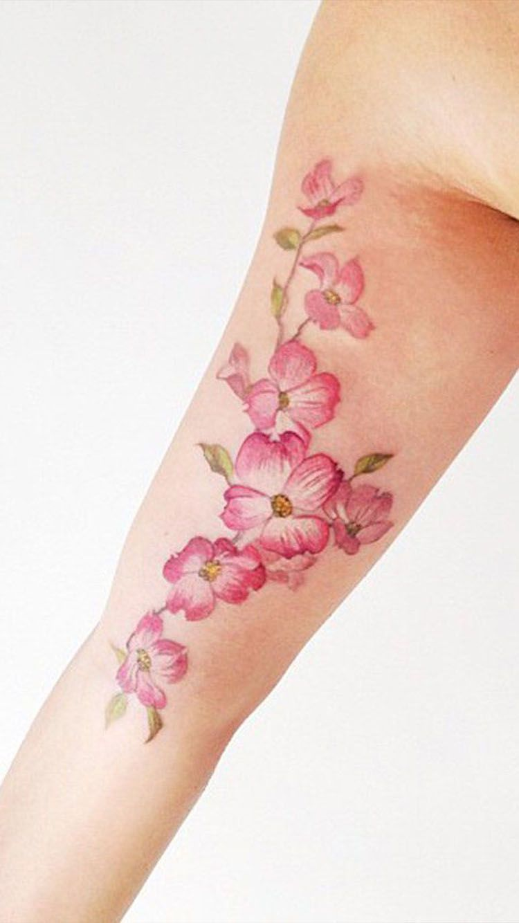 Danity Cherry Blossom Tattoos And Their Meaning Cherry Blossom Tattoo Blossom Tattoo Best Tattoos For Women