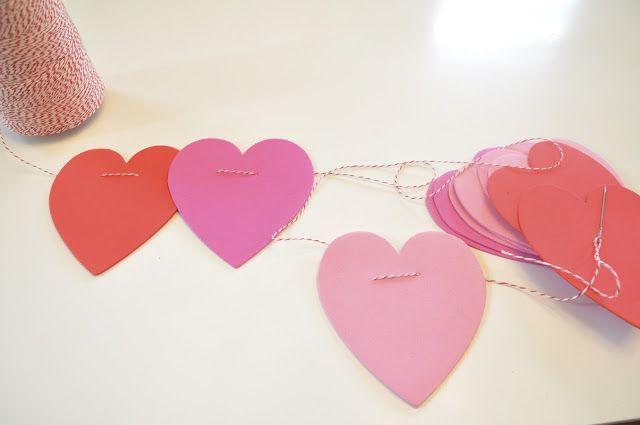 Honey We're Home: Handmade Valentine {Heart Garland}