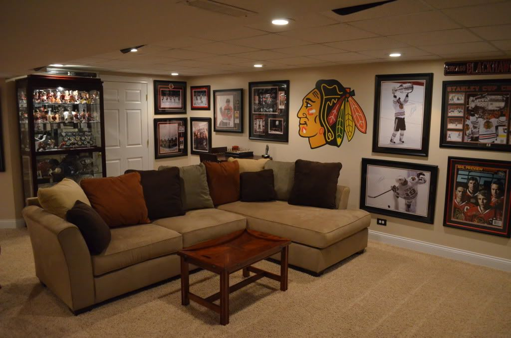 basement sports cave wall baseball designs renovations bars hockey