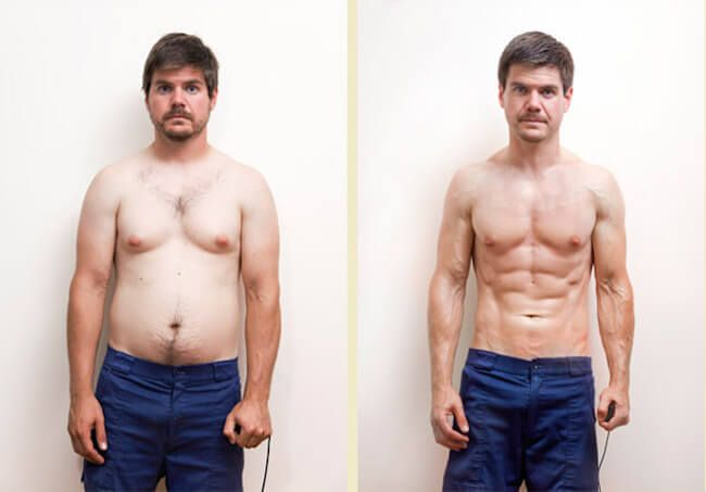 lean gains diet workout mantra for fat loss men s before and