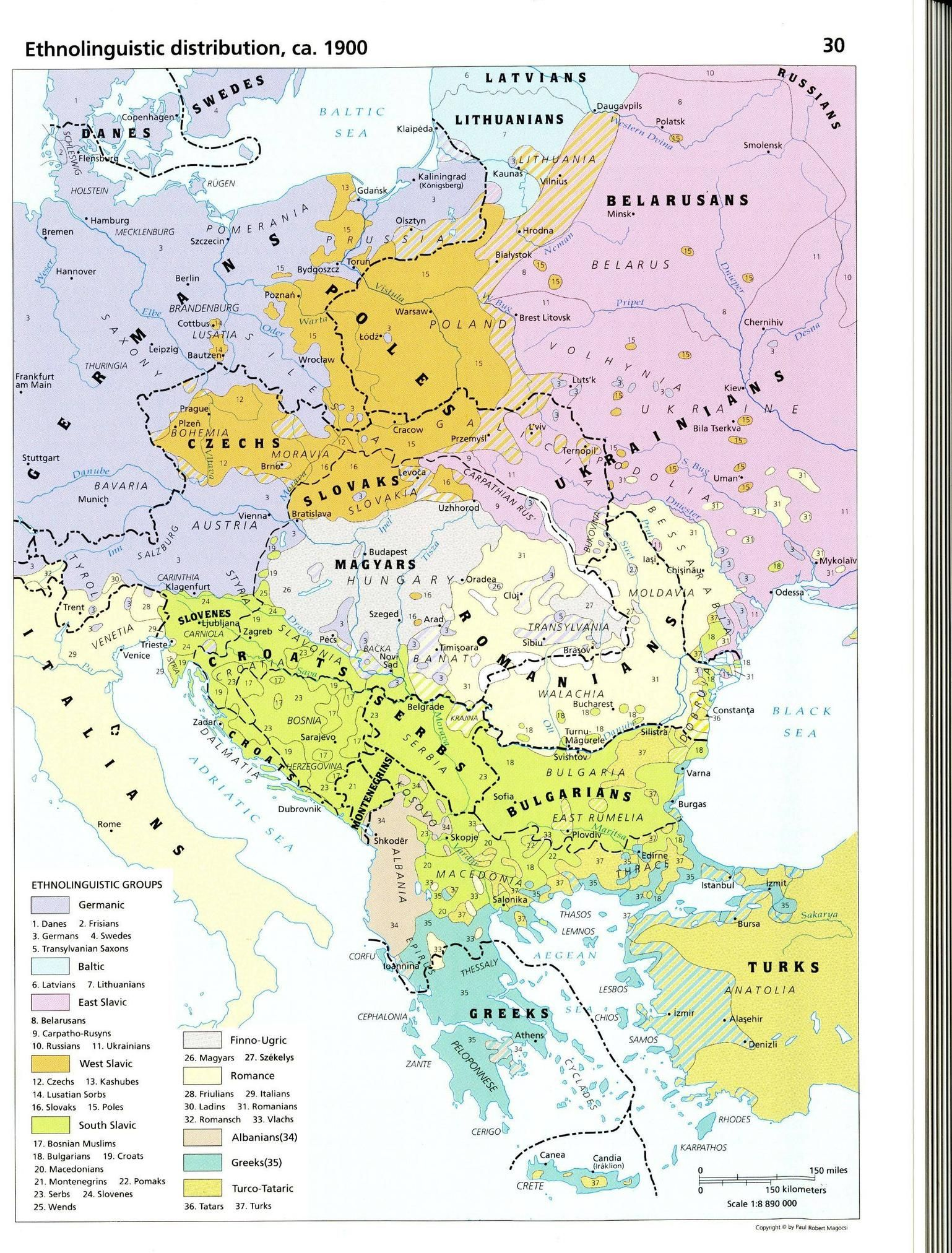 ethnolinguistic distribution ca 1900 from the historical atlas of east central europe 1538x2024 imgur
