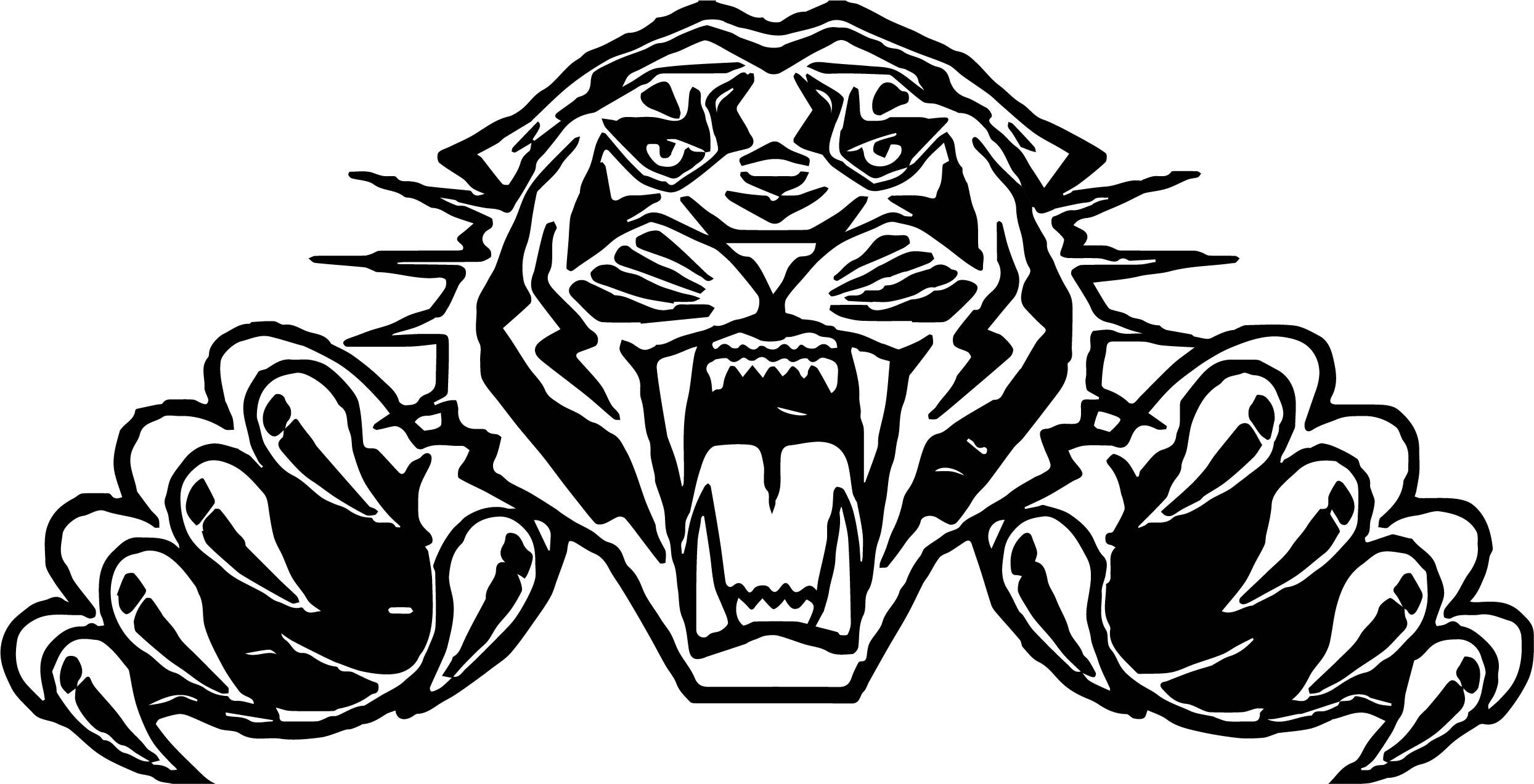 Angry Tiger Face Coloring Page