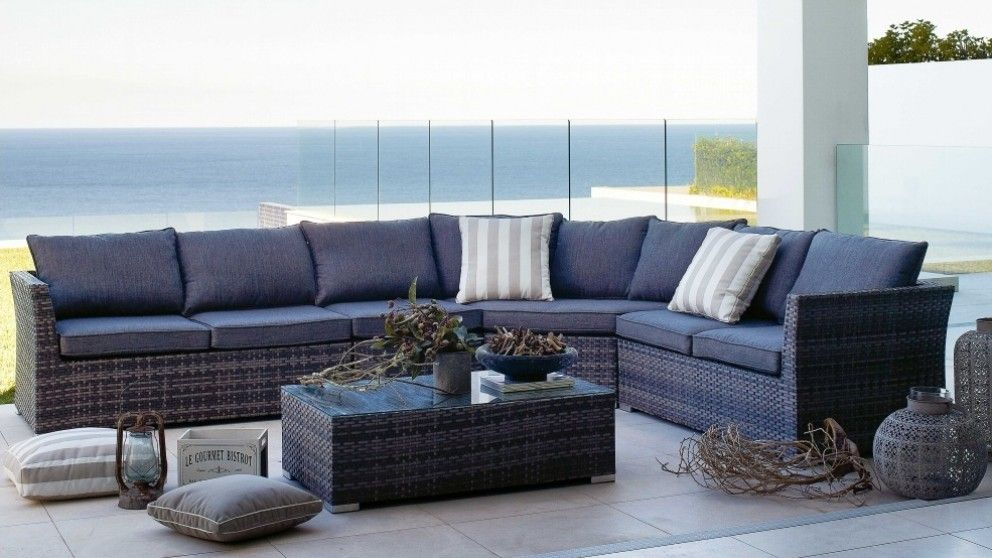 Phuket outdoor corner modular lounge suite with coffee - Harvey norman living room furniture ...