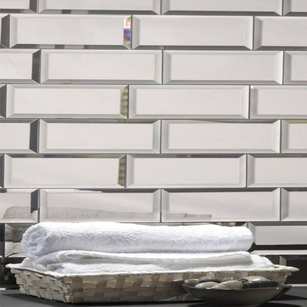 Mirror Glass Subway Tile Glossy Silver 3 X 12 Mirror Wall Tiles Beveled Subway Tile Decorative Wall Tiles