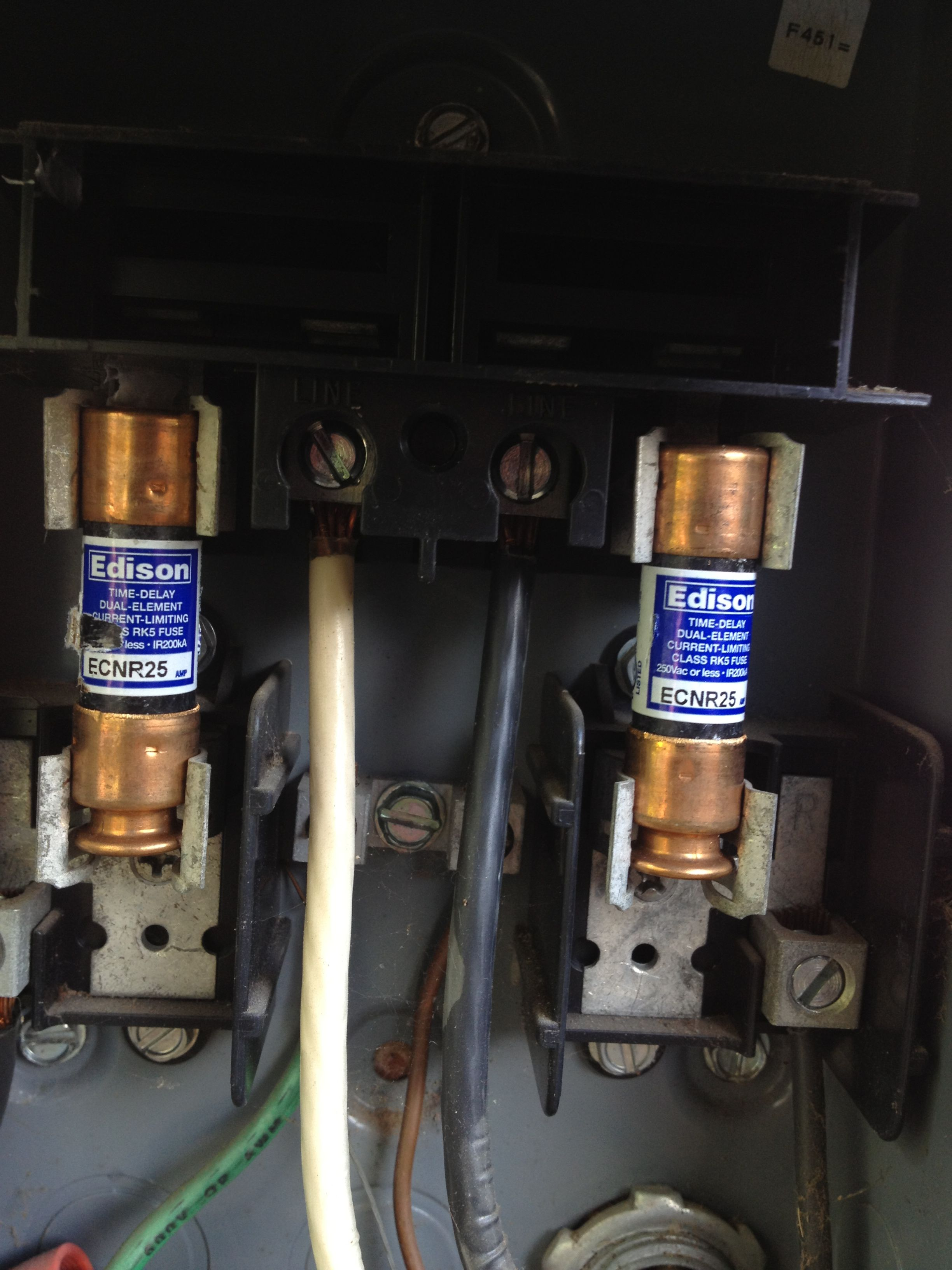 If Your Service Disconnect Fuses Are Oversized It Can Lead To Costly Wiring Damage To Your Outdoor He Cooling Installation Outdoor Heating Heating And Cooling