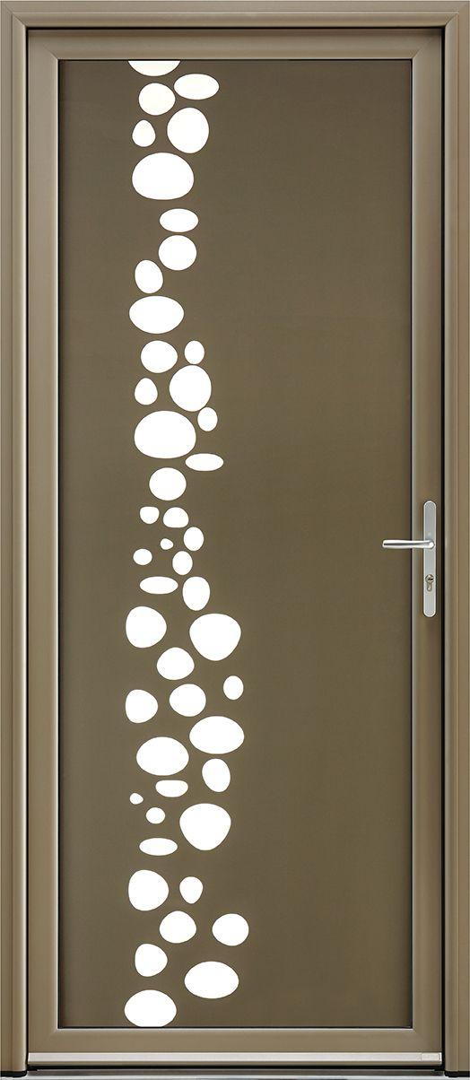 Porte du0027entrée aluminium contemporaine grand vitrage Effervescence