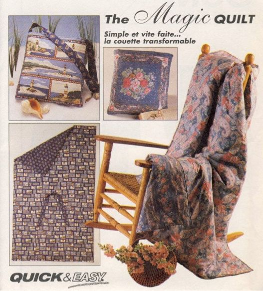 Magic Quilt Quillow Sewing Pattern Quilts That Folds Into A Pillow