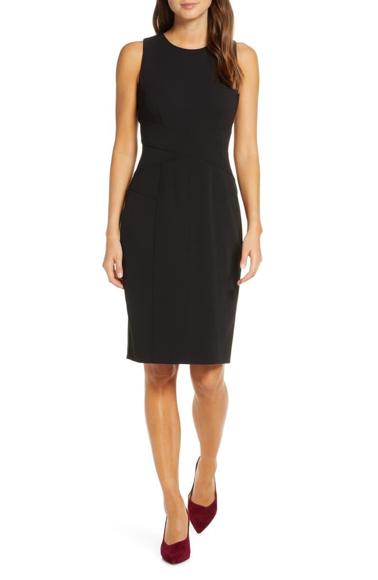 Vince Camuto Sleeveless Crepe Sheath Dress Nordstrom Sheath Dress Nordstrom Dresses Dresses [ 1196 x 780 Pixel ]