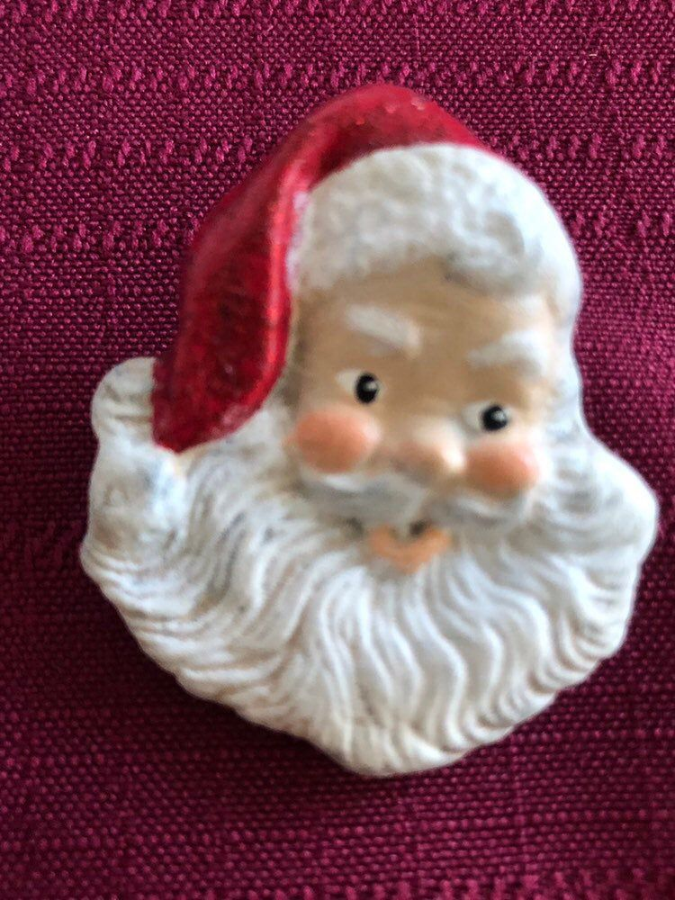 my #etsy shop: #Vintage #Christmas #SantaClause #Beard #Brooch #Holiday #pin #Ceramic #Scarf #Vest #Sweater #Hat #Jewelry #lododenvervintage #shoplododenvervintage #denvervintage #etsylovesvintage #etsyvintagelover #etsyvintage #santaclause